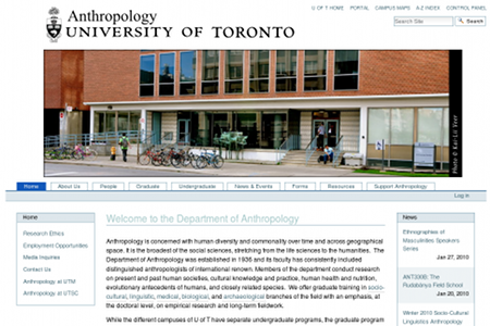 Anthropology, Department of