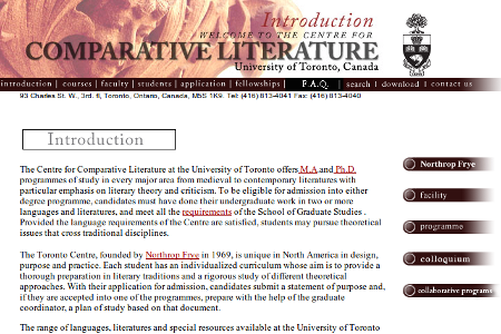 Comparative Literature, Centre for