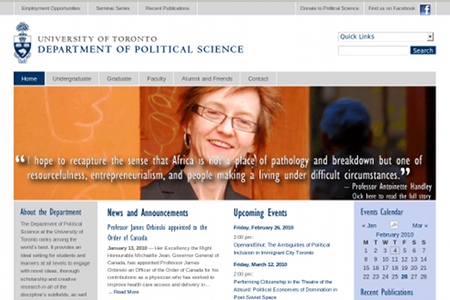 Political Science, Department of