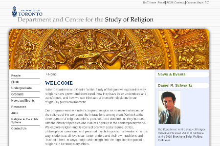 Religion, Department and Centre for the Study of
